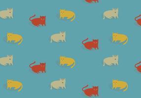 Padrão de gatos de ilustração vetor