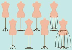 Manequim de costura de moda vetor