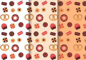 Vetor de padrões de doces grátis