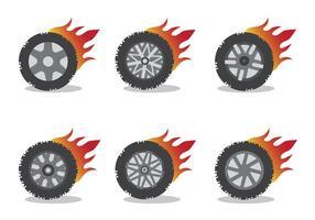 Conjunto de vetores da roda de desgaste