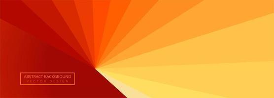 banner de onda vermelha e amarela de listras modernas vetor