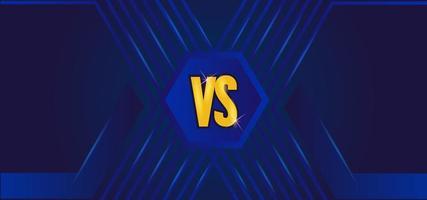 design moderno x azul versus modelo vetor
