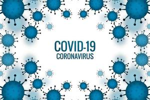 células de surto azul covid-19 vetor