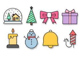 Vector de ícones de Natal grátis