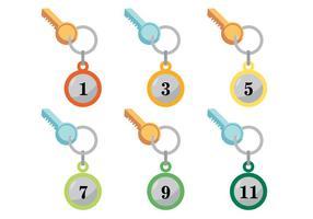 Conjunto de vetores de porta-chaves