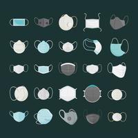 máscara médica respiratória, hospital ou proteção contra poluição