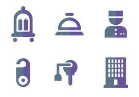 Logos de vetores de concierge