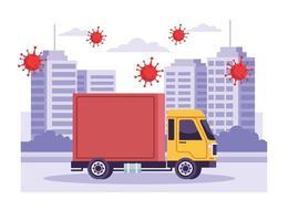 serviço de entrega de caminhão