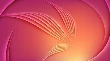 modelo de design abstrato em laranja
