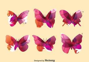 Conjunto abstrato da coleção de borboletas vetor