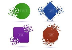 conjunto de coleta de formas coloridas modernas quebradas vetor