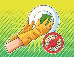 prevenção de utensílios de lavagem