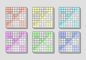 Quadro quadrado de Sudoku vetor