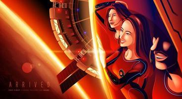 a primeira colônia humana em Marte vetor