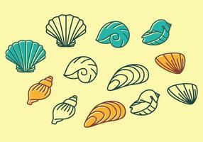 Ícone de conchas do mar vetor