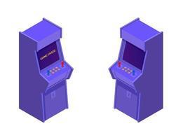 máquinas de jogo de arcade isométricas vetor