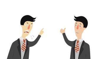conjunto de chefe com raiva e aprovação vetor