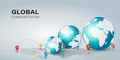 aplicação de rede global online vetor