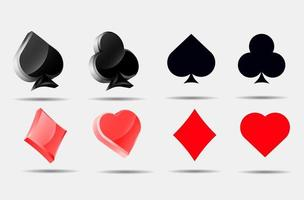 conjunto de cartas de jogar vetor