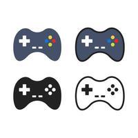 coleção de ícones de gamepad simples vetor