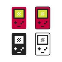 coleção simples de ícone de gadget de jogo vetor