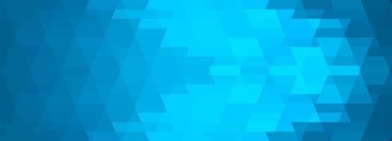 banner de azulejos geométricos azuis abstratos vetor