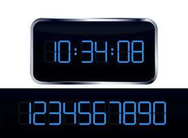 relógio digital com bloco de números vetor
