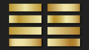 conjunto de tiras de gradiente ouro vetor