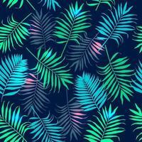 padrão de folhas de palmeira tropical