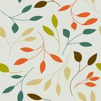 padrão com folhas coloridas. vetor