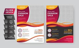 modelo de panfleto definido para venda de moda vetor