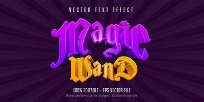 texto de varinha mágica vetor