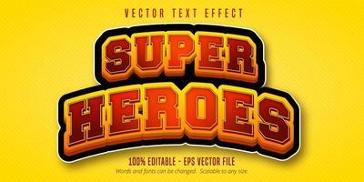 texto de super heróis vetor