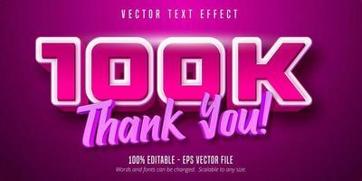 obrigado 100k texto