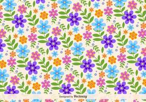 Fundo floral retro do vetor
