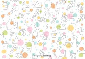 Padrão de vetores de doces de desenho animado