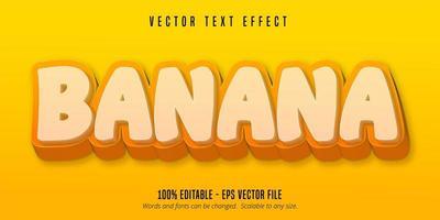 texto de banana amarela vetor