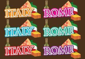Títulos da Itália e de Roma vetor