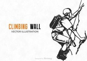 Ilustração de parede de escalada de vetores