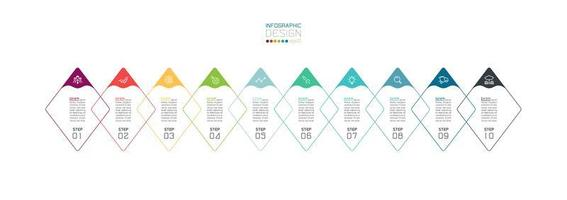 forma de diamante sobreposta moderna passos infográfico de negócios