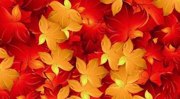 modelo de design de fundo com folhas vermelhas vetor