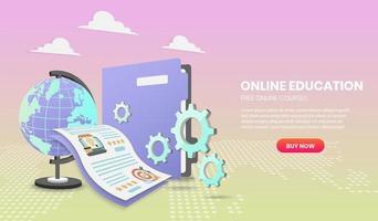 modelo de site de cursos on-line grátis vetor