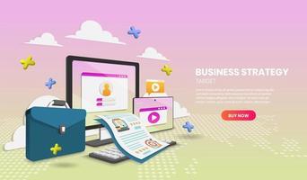 modelo de site de estratégia de destino de negócios
