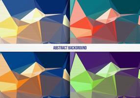 Coleção de fundo geométrico colorida colorida de vetores grátis