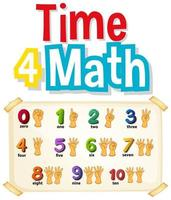contando números com as mãos vetor