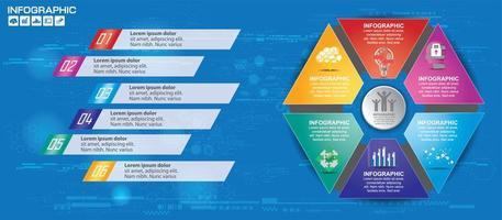 gráfico de alta tecnologia infográfico colorido vetor