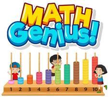 gênio da matemática com crianças e números