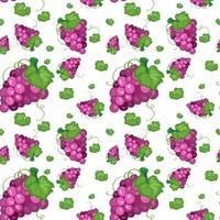 projeto de plano de fundo sem emenda com uvas vetor