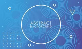 abstrato azul moldura circular vetor