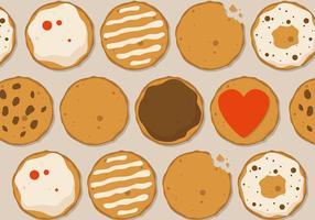 Design de vetores de cookies grátis